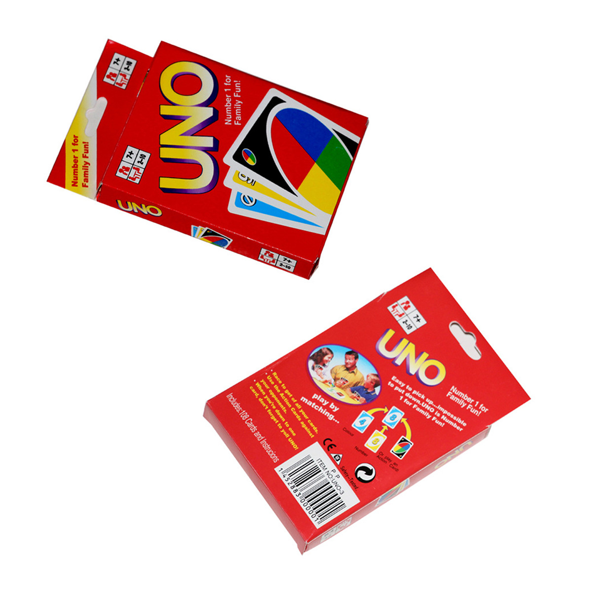 Funny Standard 108 UNO Playing Cards Game For Family